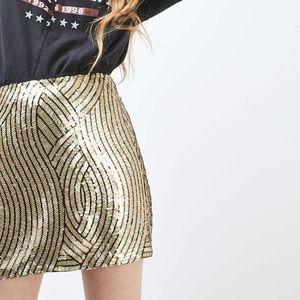 Sequined Swirl Skirt